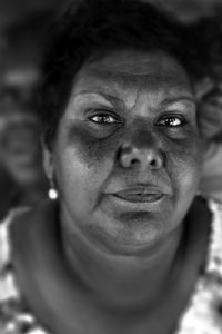 "Photo by Belinda Mason: June Oscar, ""The Matriarch"". Ms Oscar is the Marininwarntikura Fitzroy Womens Resource Centre CEO at WA's Fitzroy Crossing. Ms Oscar was awarded The Order of Australia in recognition for her work with Foetal Alcohol Spectrum Disorder (FASD) in her community."