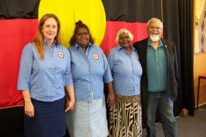 Dr Panzironi with Anangu Elders and Ngangkari, and Tauto Sansbury