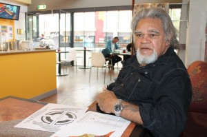 Toogarr Morrison explains that there is no Noongar nation and 13 clans but a Bibbullmun nation with 23 States - Photo by Gerry Georgatos