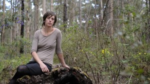 WA Forest Alliance spokeswoman Jess Beckerling in the forest in the South West of WA. Picture: Daniel Wilkins