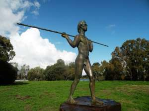 Statue of Yagan on Heirisson Island