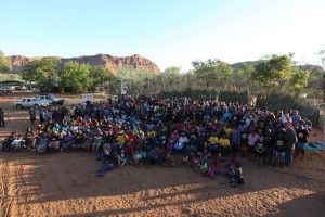 The KALACC festival saw more than 2,000 people come through, 800 on any given day, 32 language groups, five cultural blocks - at Jarlmadangah, 350 kms north of Broome - Photo, Cornell Ozies