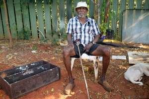 "Elder Roy Hunter Wiggin, 88 years old, ""I will not leave"" - Photo, Ingetje Tadros"