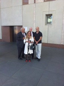 Today, Canberra, Federal Parliament, Dr Tom Calma, Professor Pat Dudgeon, John Shevlin, Gerry Georgatos pushed for me to done in suicide prevention - 'fingers crossed' after a positive meeting with Federal Minister of Indigenous Affairs, Senator Nigel Scullion