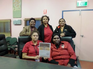 Donna Smith, left back row, with members of the Halls Creek Healing Taskforce