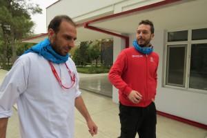 Yusof and Luca in Emergency Hospital, Kabul