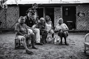 Gerry Georgatos at One Mile Community, Broome - Photo, Ingetje Tadros