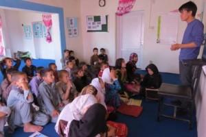 Ali teaching at Street Kids' School