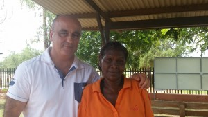 Gerry Georgatos with Bunuba mother, Lena Andrews who wants a royal commission so the Australian nation hears the stories from the affected families