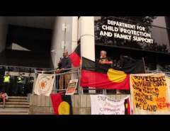 Gerry Georgatos talking at Sorry Day rally in Perth
