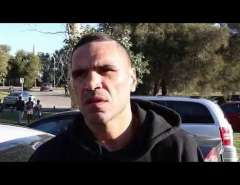 Anthony Mundine interviewed at Matargarup camp